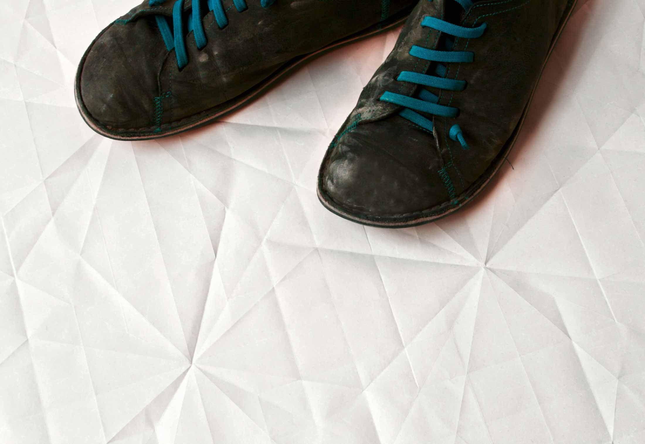 Folded paper on ceramics by Mutina