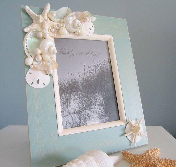 Beach Decor Shell Frame Nautical Decor by beachgrasscottage, $60.00 ...