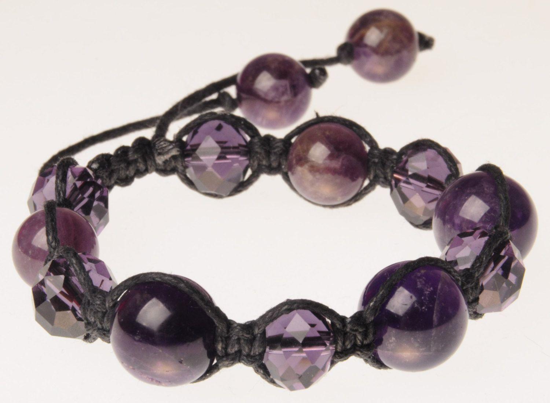 Amethyst bracelet talisman amulet amethyst amulet bracelet female gift Christmas Valentine's Day stylish amethyst gift woman