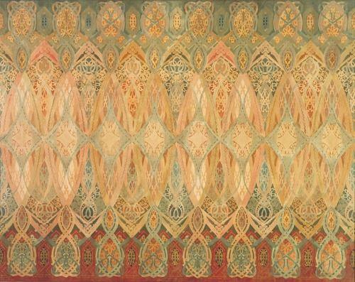 Art Nouveau Wallpaper   Louis Sullivan\'s wallpaper border in a room ...