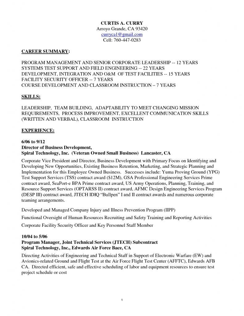 100+ [ Sample Resume For Electronics Test Technician ...