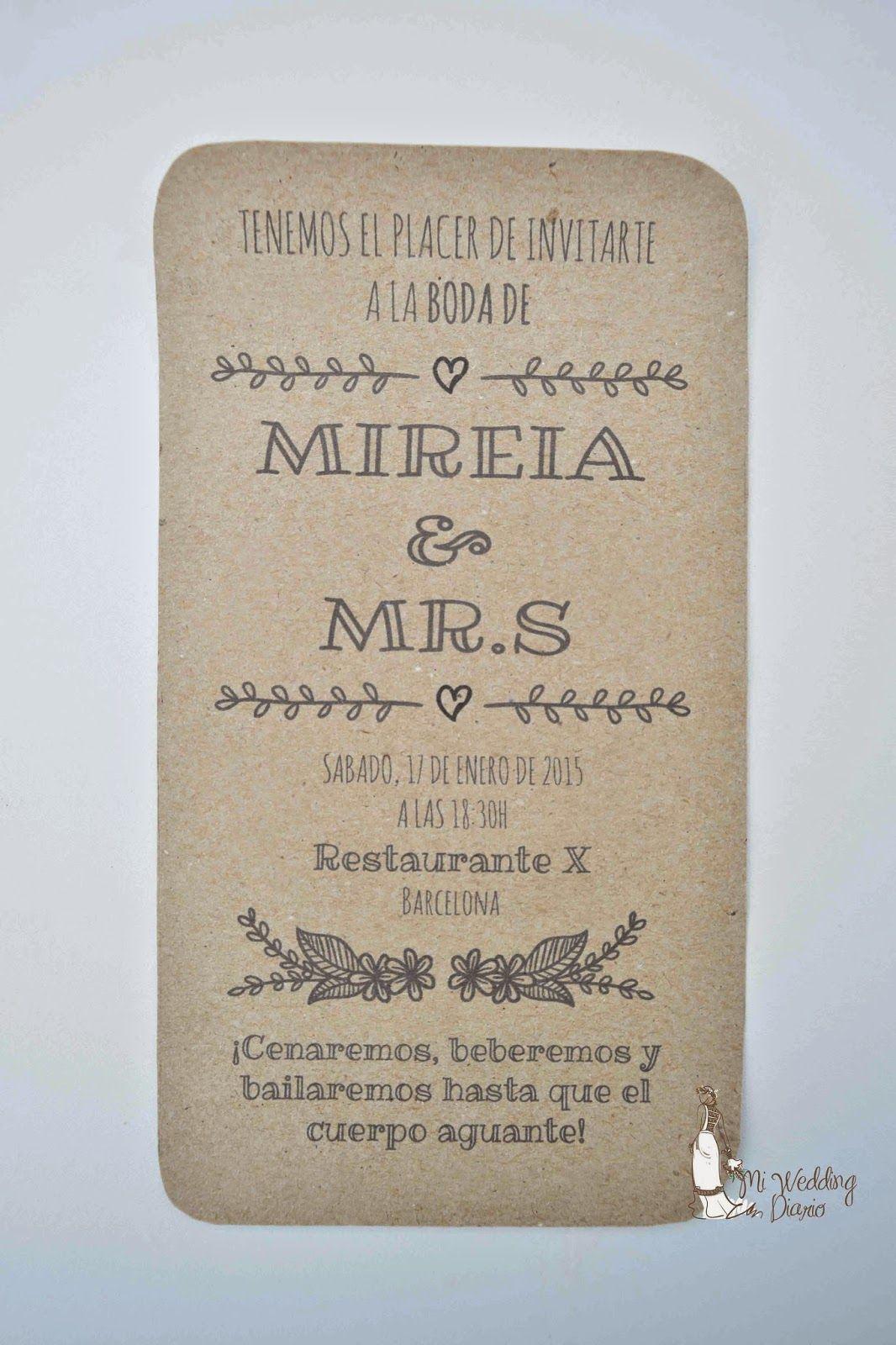 Mi Wedding Diario: Imprimible Invitaciones Rusticas                                                                                                                                                     Más