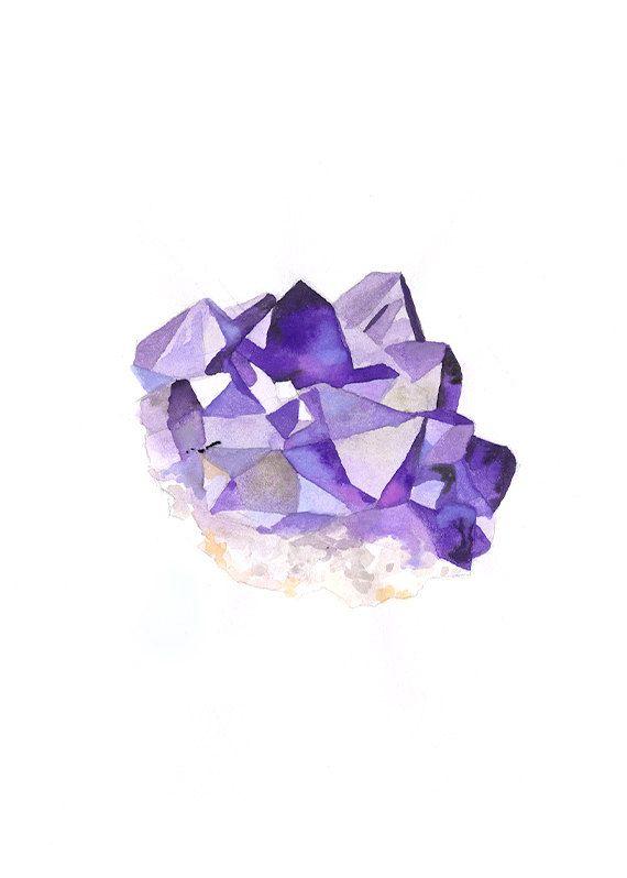 большой рисунок кристаллов аметиста ритм проникают