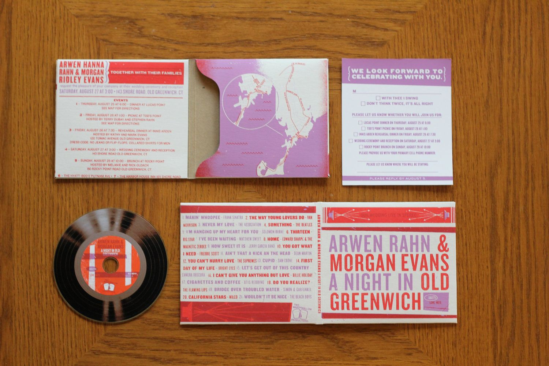 Screen Printed Mix CD Wedding Invitations Wedding Ideas