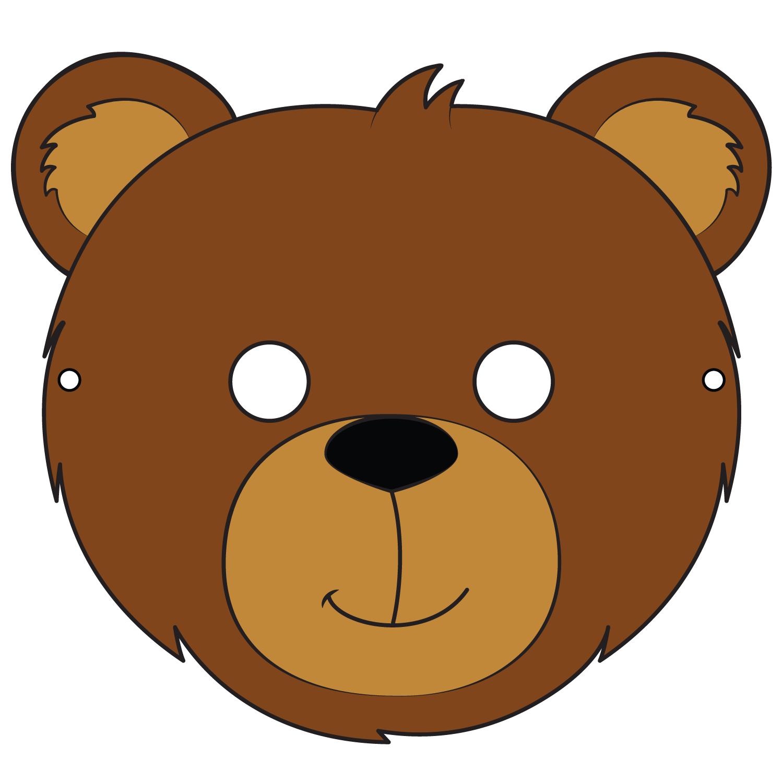 Bear Mask Template Free Printable Papercraft Templates Pertaining To Teddy Bear Mask Template Bear Mask Template Bear Mask Template Bear Mask Mask Template