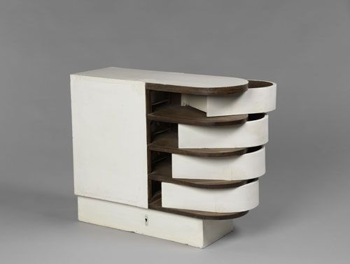 eileen gray cabinet with pivoting drawers circa 1926 1929 painted wood piece of furniture. Black Bedroom Furniture Sets. Home Design Ideas
