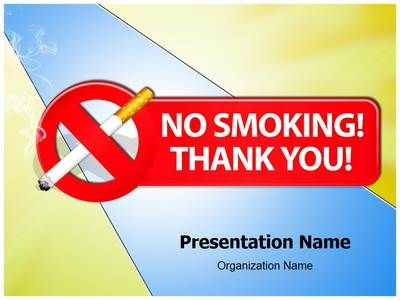 Check out our professionally designed No smoking Thank You #PPT