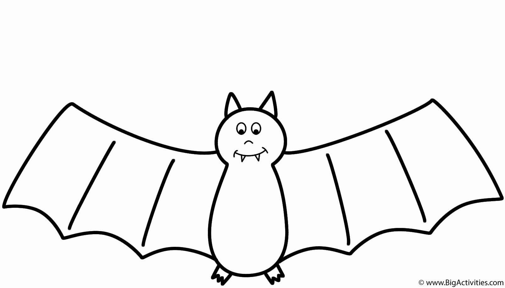 Bat Halloween Coloring Pages Fresh Bat Coloring