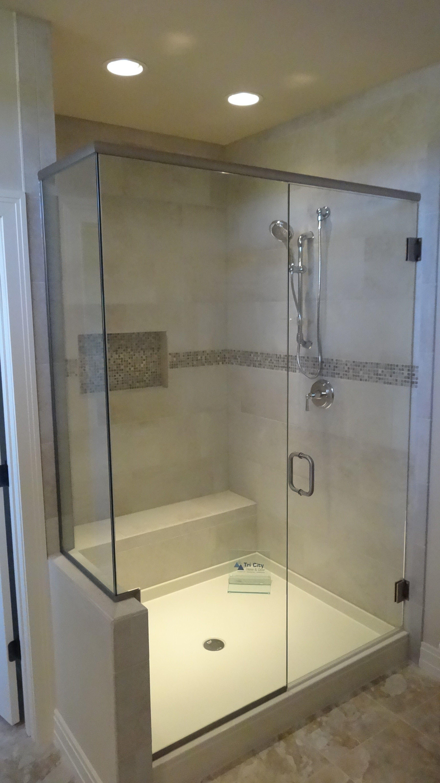 Custom Heavy Glass Shower Door Panel And Return Panel Shower Doors Glass Shower Glass Shower Doors