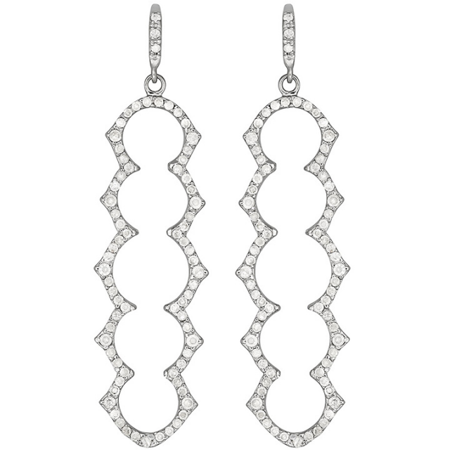 Olympia Five Stone Drop Earrings | Shawn Warren Jewerly