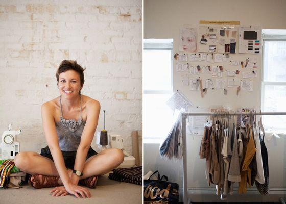 Eco designer Tara St. James and her studio
