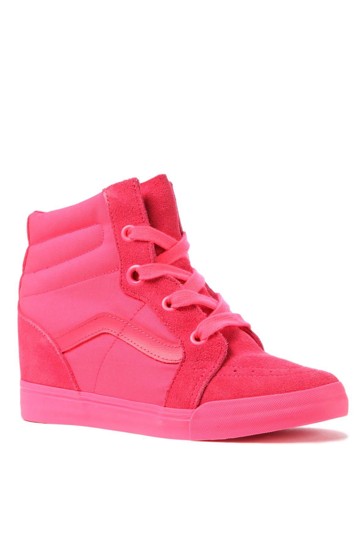 Vans Sk8-Hi Wedge Sneaker in Neon Red - Karmaloop.com  9306721fd20f