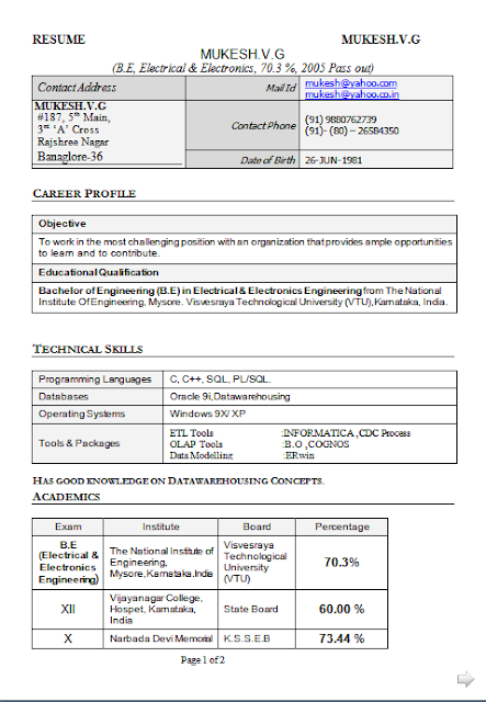 What Is A Career Objective Amusing Curriculum Vitae Pdf Descargar Free Download Sample Template .