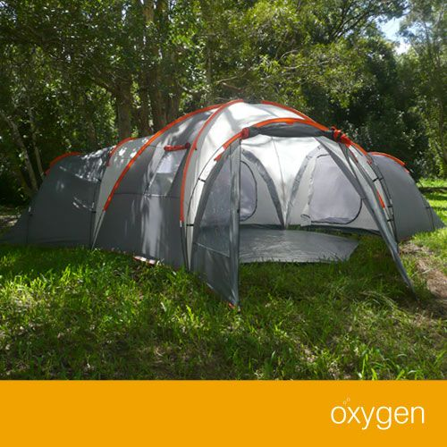 brand new 10 man person 4 room oxygen camping tent camping craze
