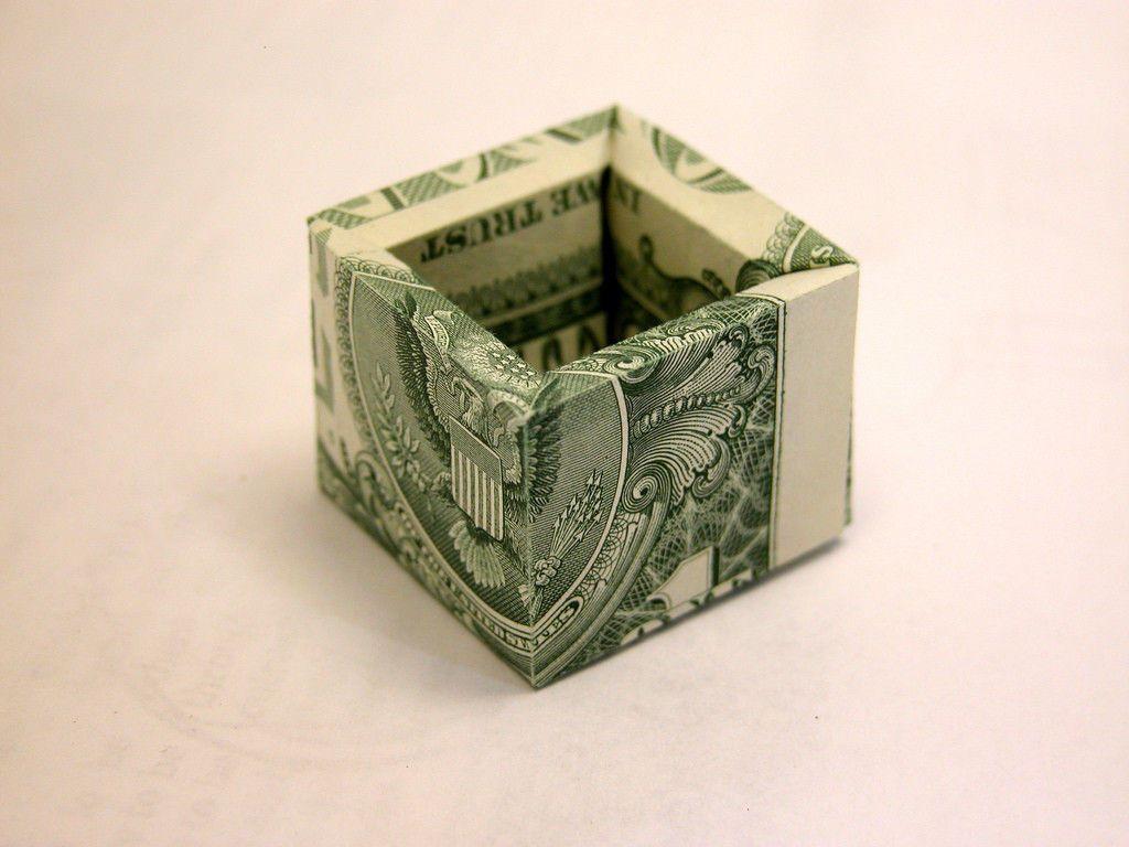 3-D Box Money Origami | Money Dollar Origami | Pinterest - photo#43