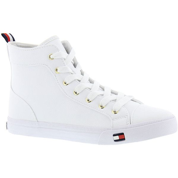 8931bcdd503d White High Tops · Rubber Shoes · Tommy Hilfiger Lassie 2 Women s White  Oxford 7 M ( 69) ❤ liked on Polyvore