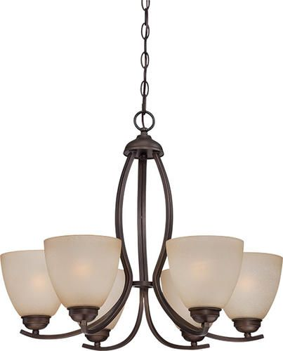 "Rope Lights Menards Stunning Maleah 6Light 2412"" Bronze Chandelier At Menards  Kitchens Review"