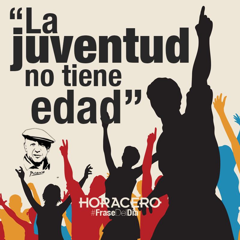 """""""La juventud no tiene edad"""" Pablo Picasso #Frases #FraseDelDía"""