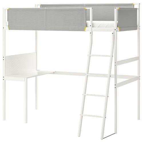 Vitval Loft Bed Frame White Light Gray Twin Ikea Loft Bed Frame Loft Bed Stuva Loft Bed