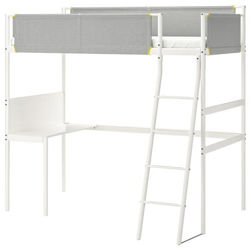 Stuva Loft Bed Combo W 2 Shlvs 3 Shlvs White Twin Loft Bed