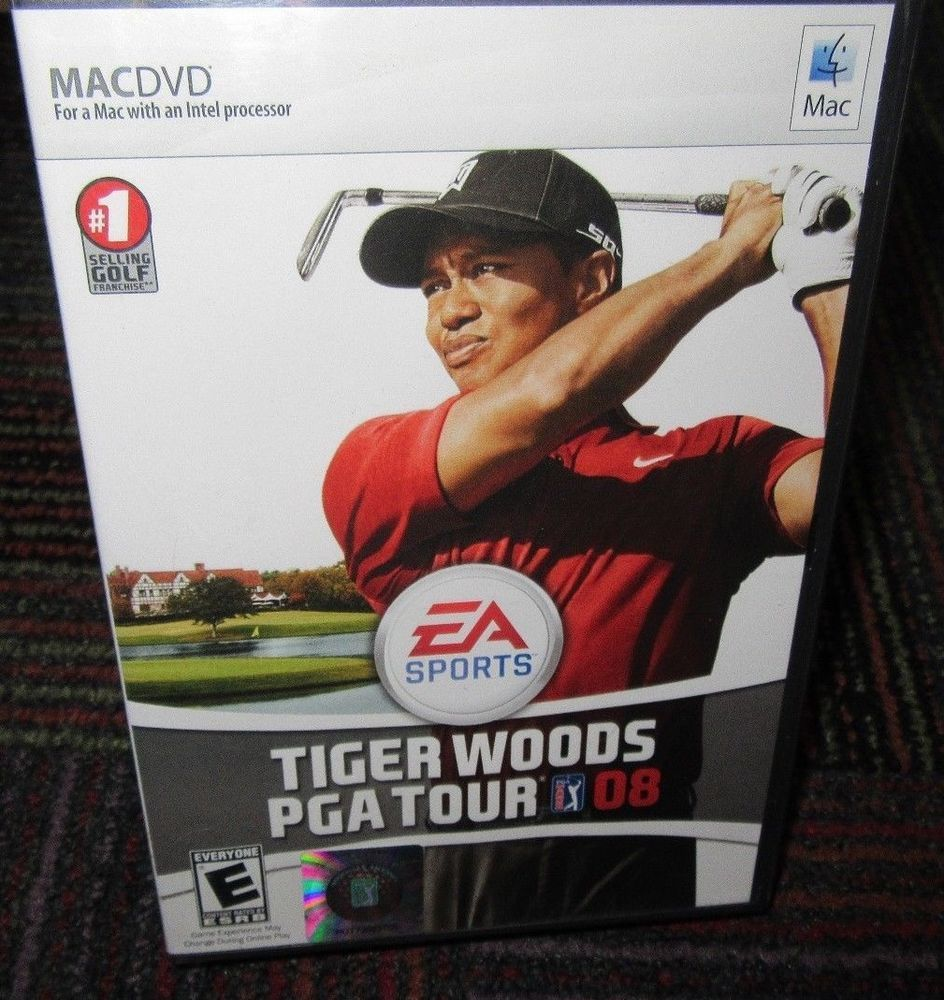 Tiger Woods Pga Tour 08 Mac Dvd Game 14 Courses 23 Golfers W Serial Code Guc Tiger Woods Golf Sport Sports