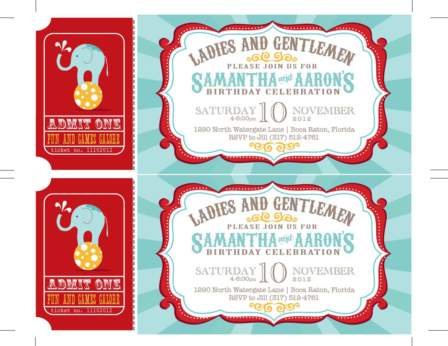 Carnival Birthday Party Invitations Circus Baby Shower Carnival - Birthday invitation cards circus
