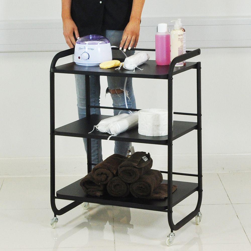 Heavy duty wood beauty salon trolley shelf skincare spa facial ...