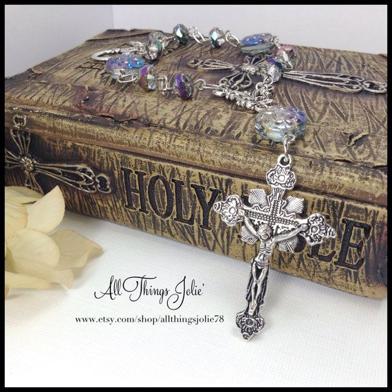 One Decade Rosary Caplet Prayer Bracelet by AllThingsJolie78