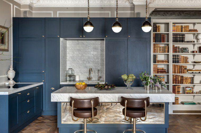 Meuble de cuisine bleu DELINIA Topaze Leroy Merlin Cuisine - logiciel de creation de meuble d gratuit