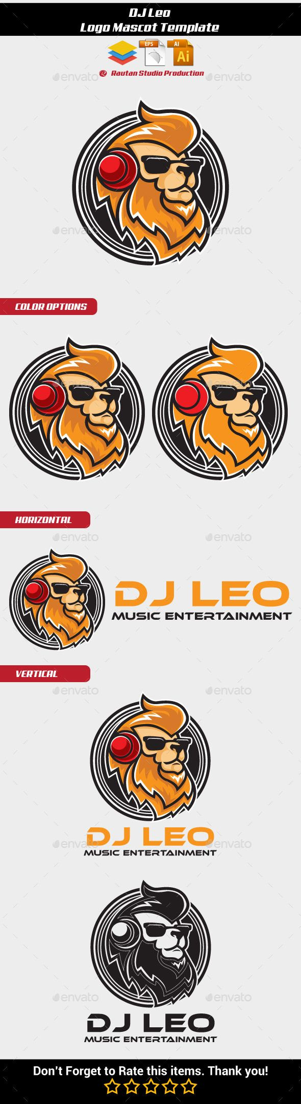 Dj Leo Logo Mascot   Pinterest   Logos, Dj logo and Logo templates