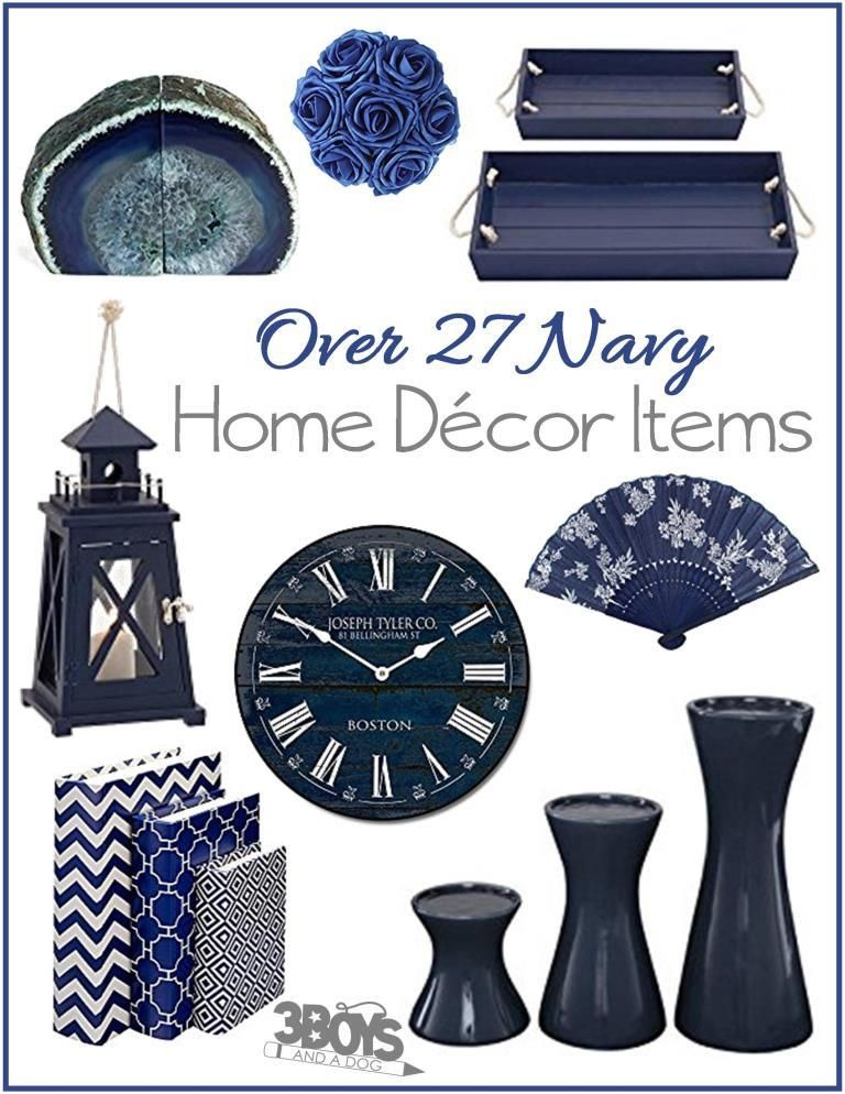 Over 27 Navy Home Decor Accent Pieces