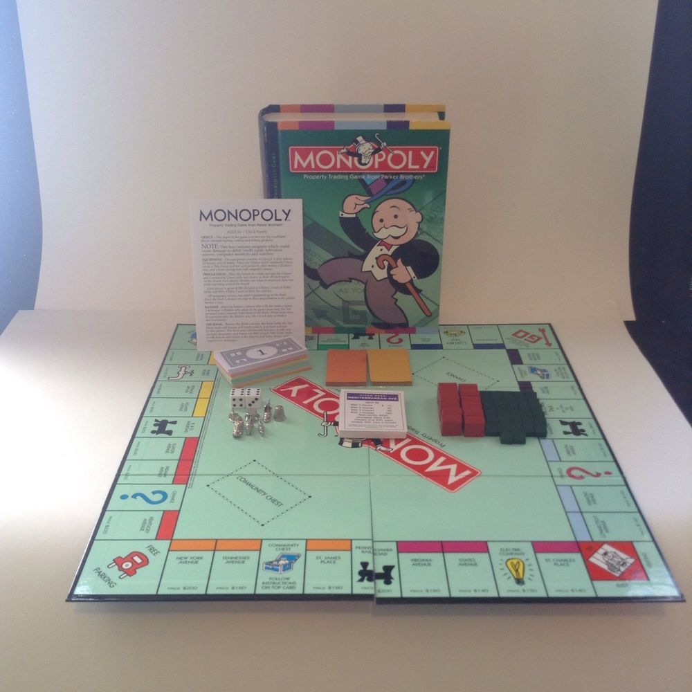 Parker Brothers 2006 Monopoly Bookshelf Edition Board Game Fun Play ParkerBrothers