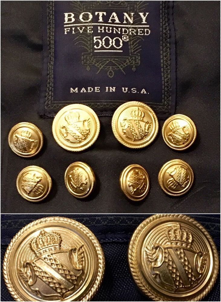 Pendelton Set Lot of 8 Gold Blazer Suit Jacket Replacement Buttons Waterbory