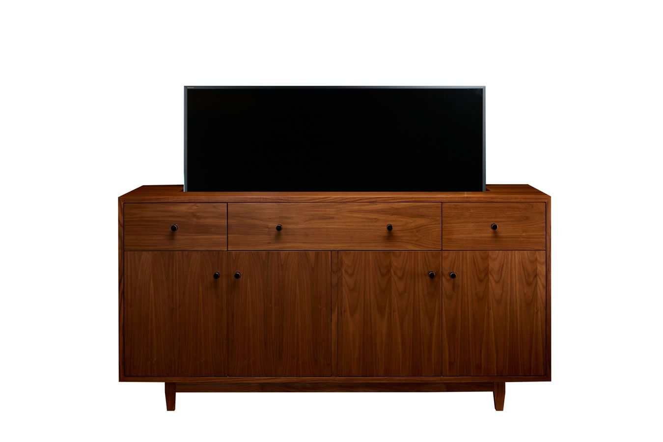 Mid Century Buffett Custom Made Tv Lift Cabinet With Images Tv