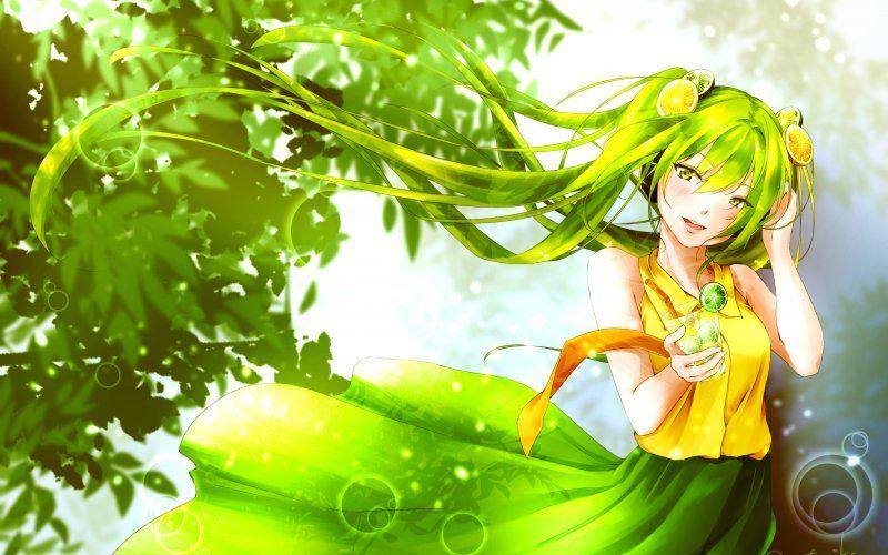 Wallpaper Cute Hatsune Miku Beautiful Green Hair Hatsune Miku Green Hair Miku