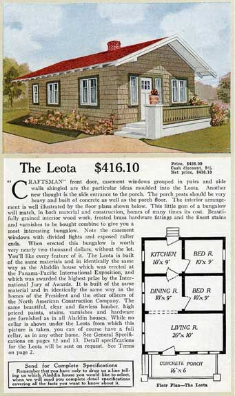 1916 Aladdin — Leota. This long of a paragraph about a house with no ...