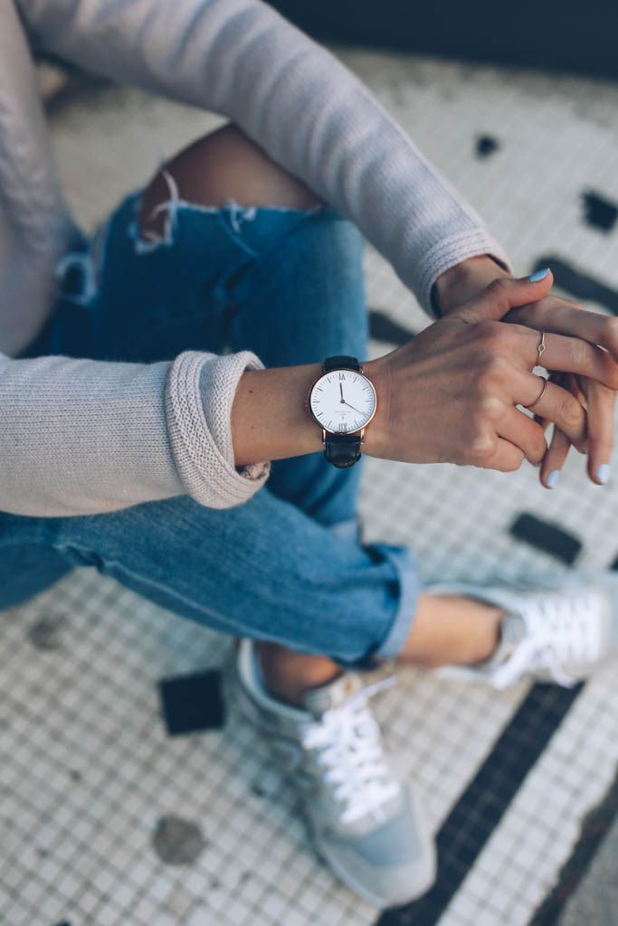 Kapten & Son Watch and New Balance / Prosecco & Plaid