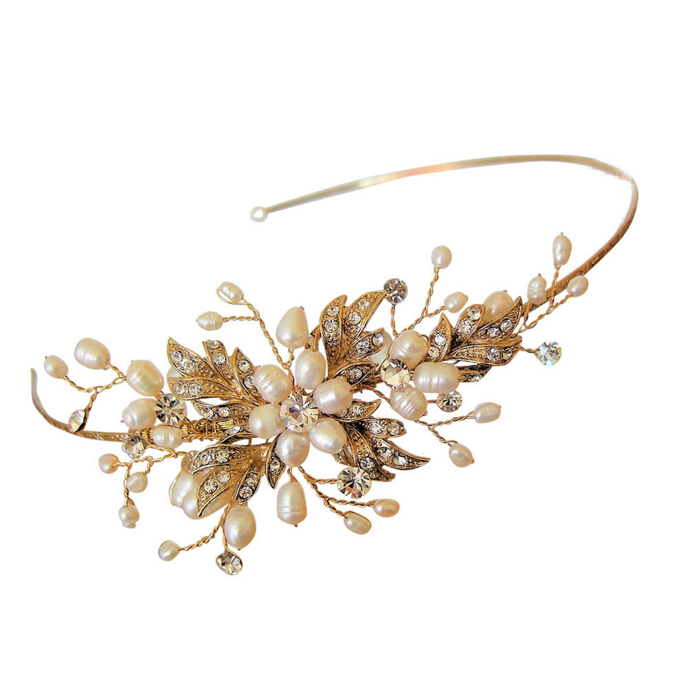 paris side headband - gold | wedding ideas | wedding