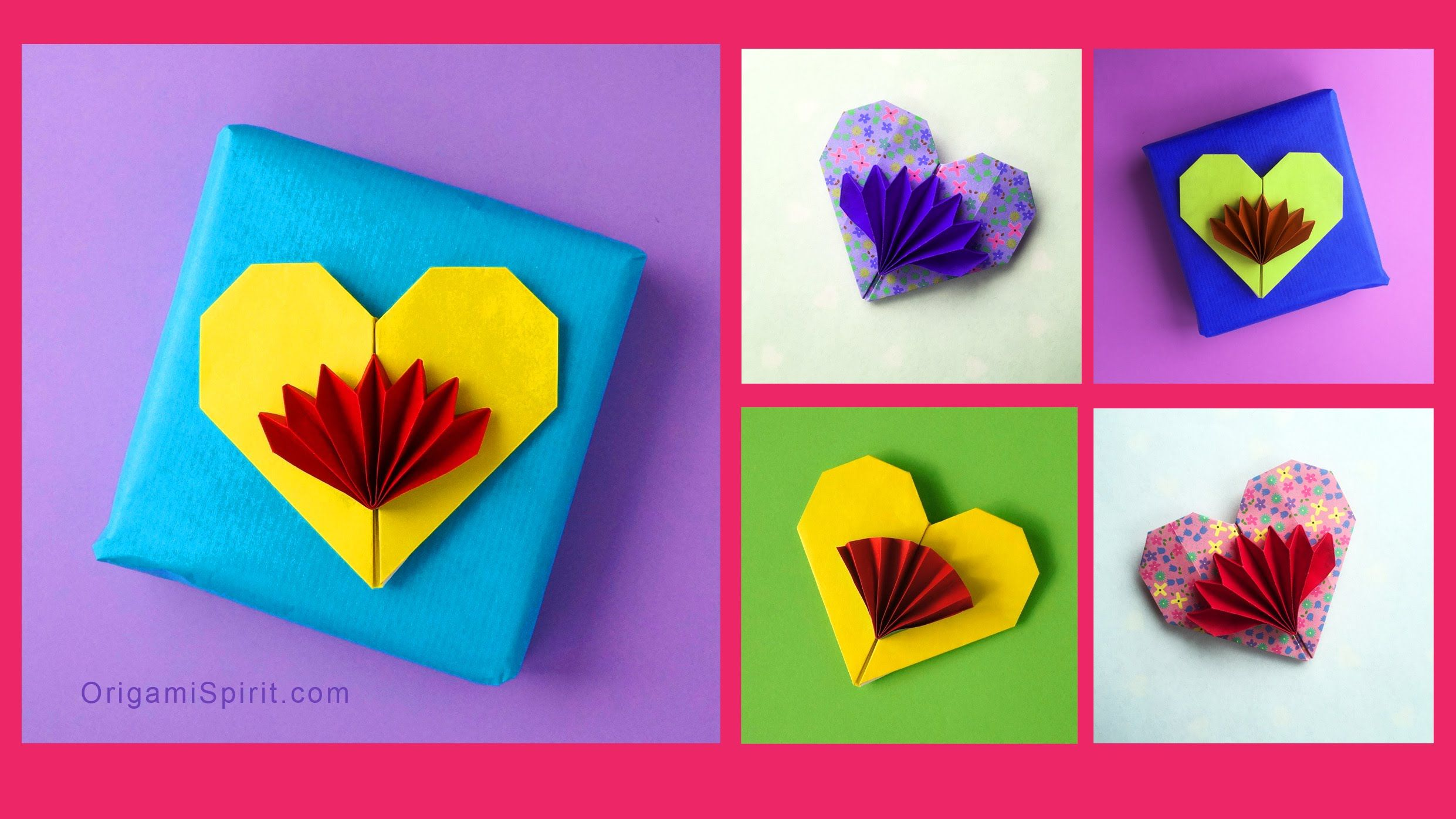 Origami tutorial to make a cute and easy paper heart. With ... - photo#26