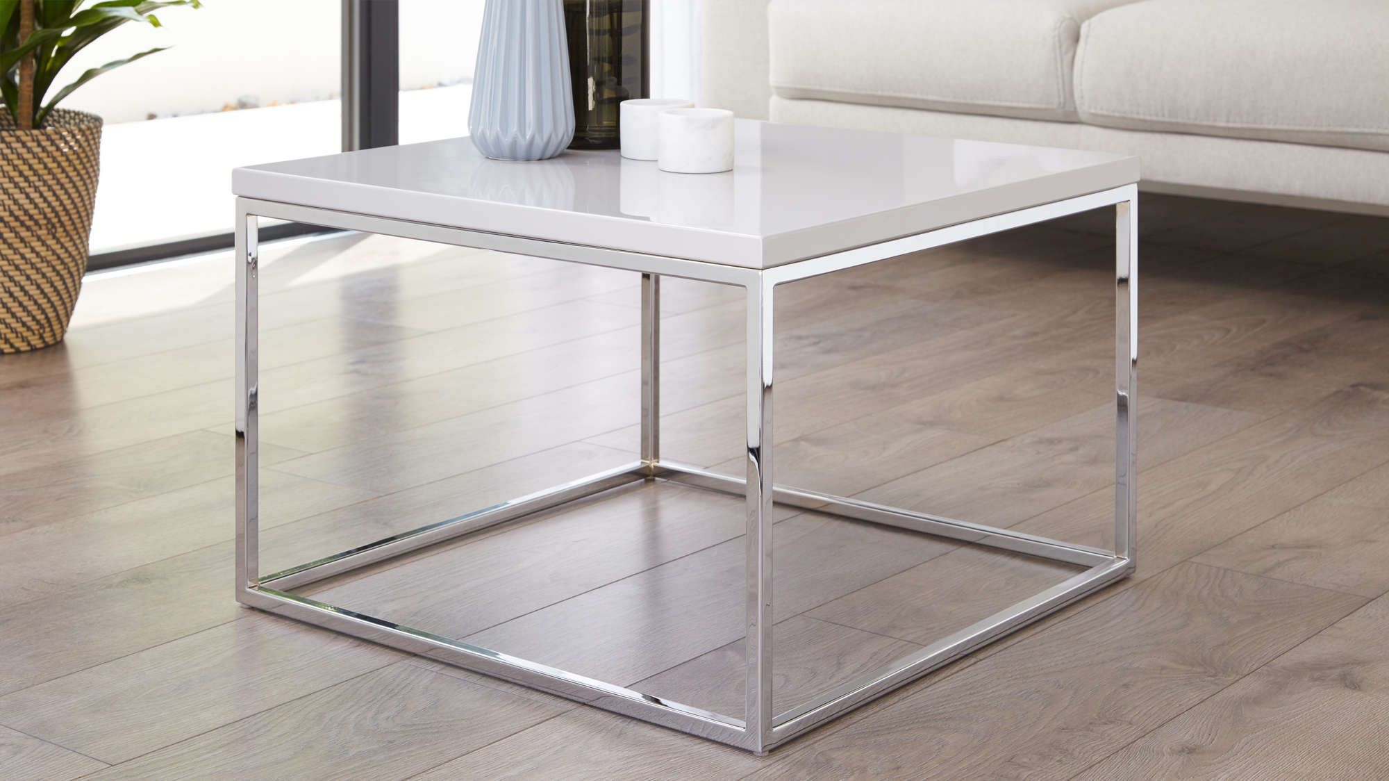 Acute Grey Gloss And Chrome Square Coffee Table Contemporary Coffee Table Coffee Table With Storage Table