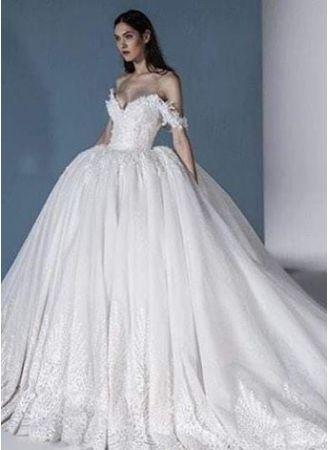 luxus brautkleider online günstige hochzeitskleider mit spitze modellnummer xy644