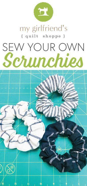 Sew Your Own Scrunchies #scrunchiesdiy