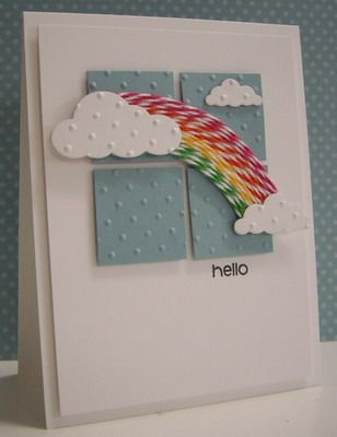 Stamping with Loll: Rainbow and Clouds