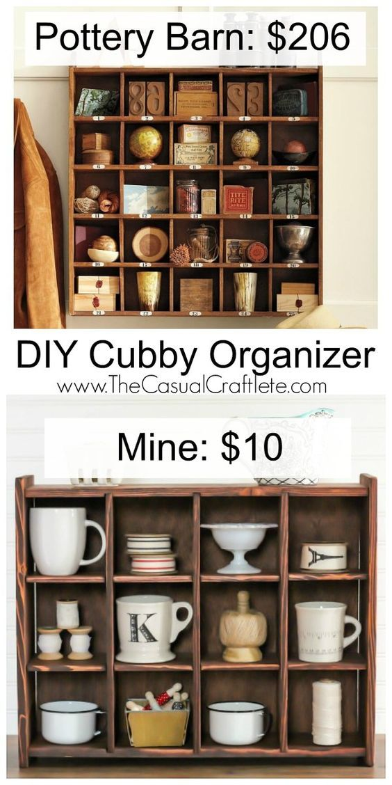 Diy Cubby Organizer Pottery Barn Inspired Wooden Great For Organizing Kitchen Items Office Supplies And Displaying Your Favorite Finds