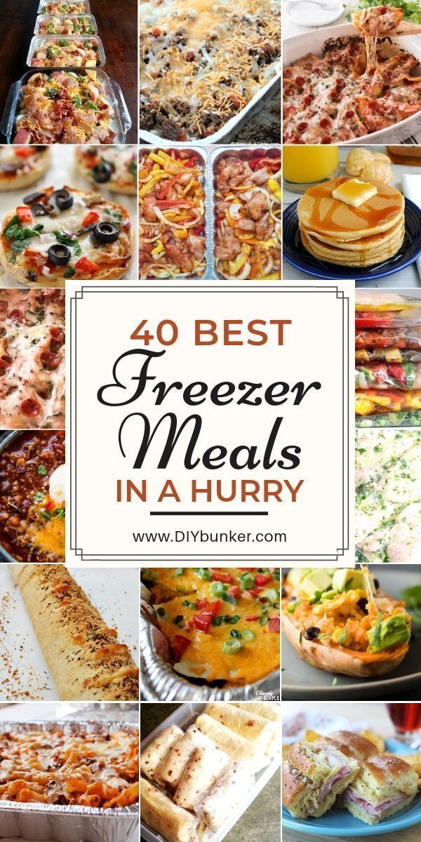 40 Quick Freezer Meal Prep Ideas That'll Make Your Life Much Easier #crockpotmealprep