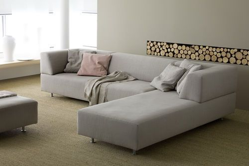 Corner Sofa Contemporary Polyester Fiber Commercial Open By
