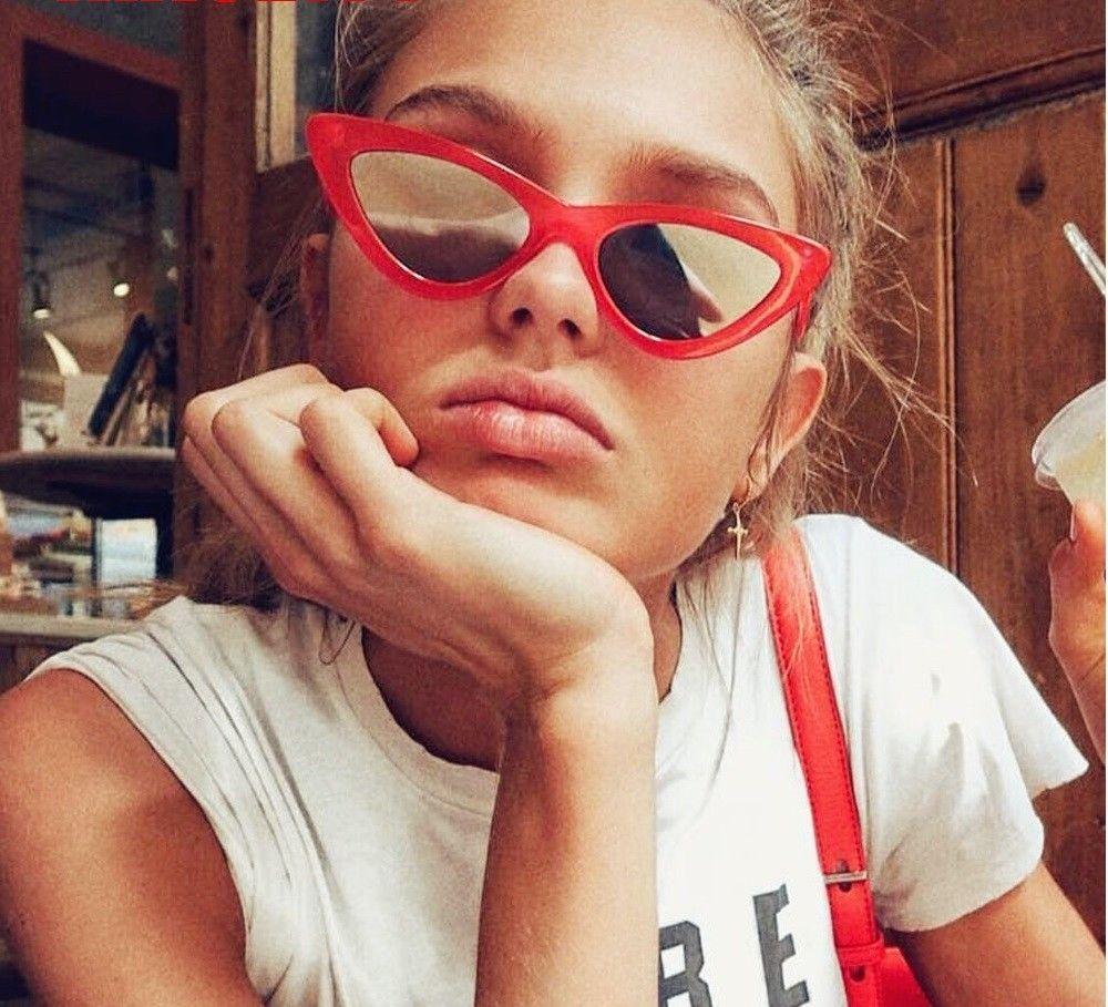 Classic Cat Eye Sunglasses Small Retro Vintage Women Luxury Sunglasses