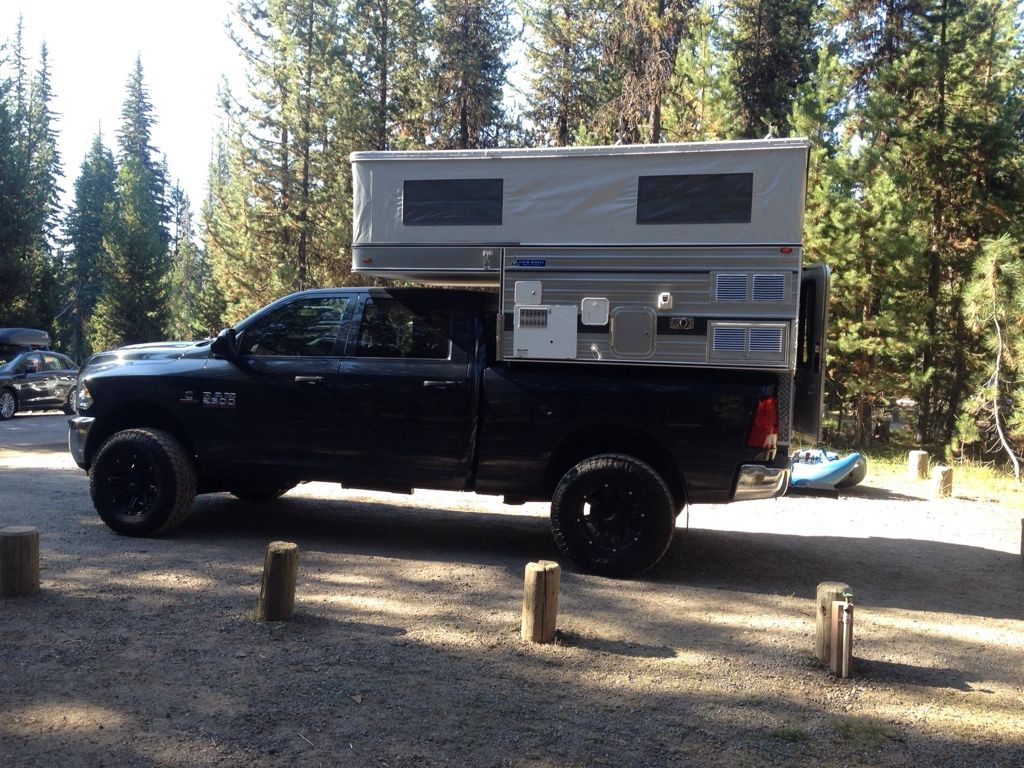2014 Ram 2500 with 2014 FWC Silver Spur Hawk 4x4 Camping