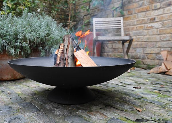 Buy cast iron disc brazier delivery by for Buy outdoor fire pit