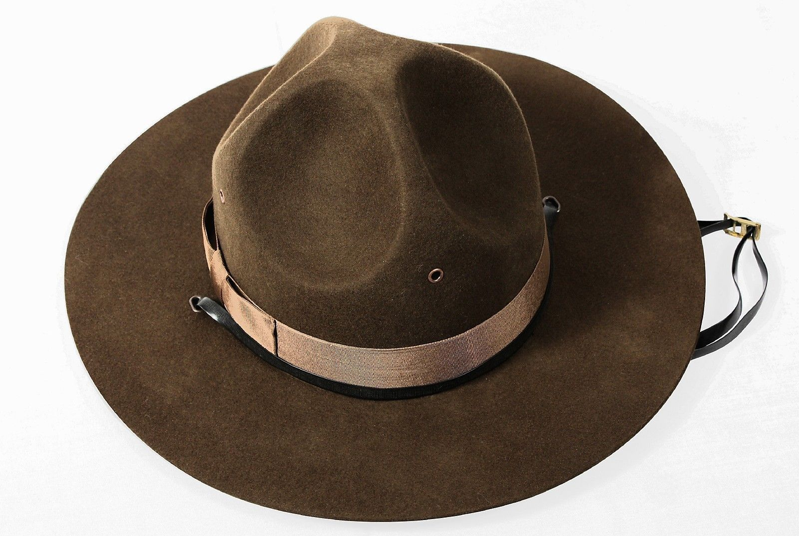 Military Campaign Hat Brown USMC Mens Adult Drill Sergeant Hats